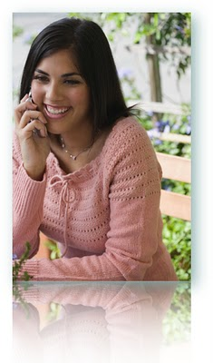 A Hispanic woman applying for a instant loan by phone.