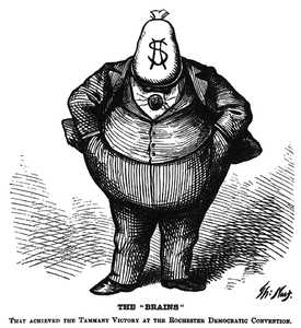 Old Boss Tweed U.S. newspaper art.