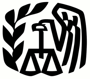 The Internal Revenue Service logo.