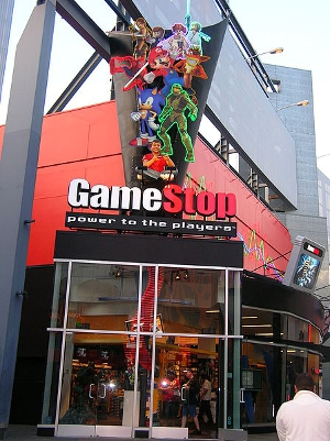 A GameStop storefront at Universal CityWalk, Hollywood.