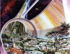 Stanford Torus II from NASA: Space Colony Artwork 1970.