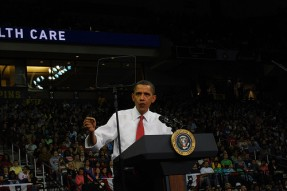 Obama at healthcare rally